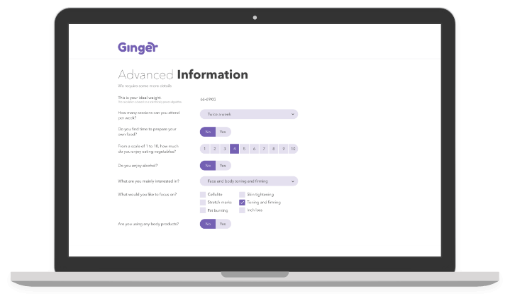 Ginger - Admin Site - Onboarding
